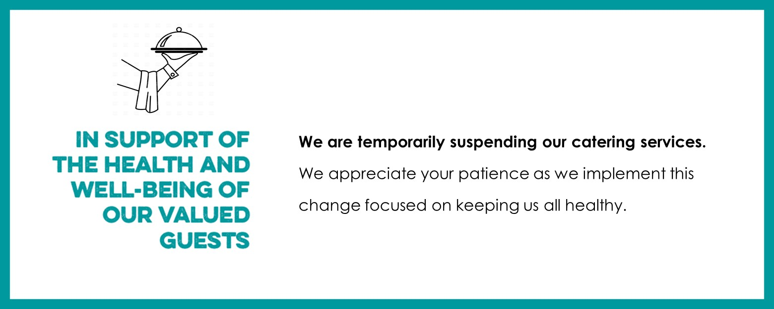 Catering Suspended COVID-19 Banner